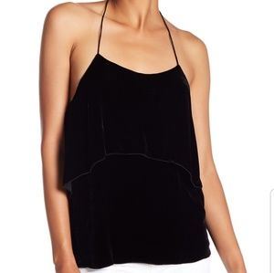 Alice and Olivia velvet halter style top
